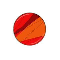 Red And Orange Decorative Abstraction Hat Clip Ball Marker (4 Pack)