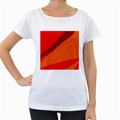 Red and orange decorative abstraction Women s Loose-Fit T-Shirt (White)