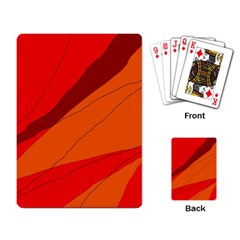 Red and orange decorative abstraction Playing Card