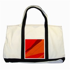 Red and orange decorative abstraction Two Tone Tote Bag