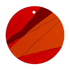 Red and orange decorative abstraction Round Ornament (Two Sides)