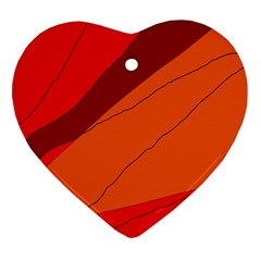 Red and orange decorative abstraction Heart Ornament (2 Sides)