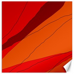 Red and orange decorative abstraction Canvas 12  x 12