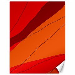 Red and orange decorative abstraction Canvas 12  x 16