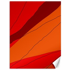 Red and orange decorative abstraction Canvas 36  x 48