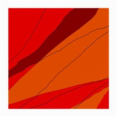 Red and orange decorative abstraction Medium Glasses Cloth (2-Side)