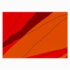 Red and orange decorative abstraction Large Glasses Cloth