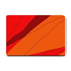 Red and orange decorative abstraction Small Doormat