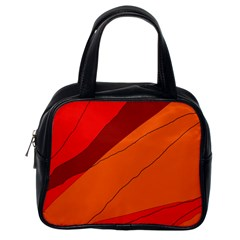 Red and orange decorative abstraction Classic Handbags (One Side)