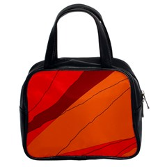 Red and orange decorative abstraction Classic Handbags (2 Sides)