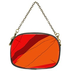 Red and orange decorative abstraction Chain Purses (Two Sides)