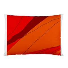 Red and orange decorative abstraction Pillow Case