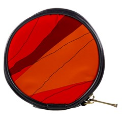 Red and orange decorative abstraction Mini Makeup Bags
