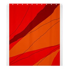 Red and orange decorative abstraction Shower Curtain 66  x 72  (Large)