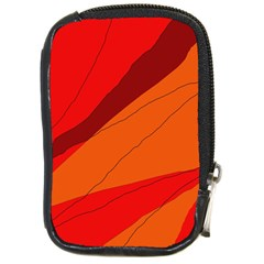 Red and orange decorative abstraction Compact Camera Cases