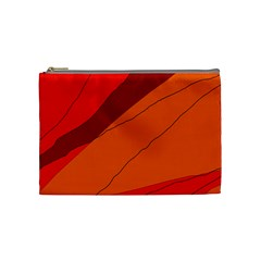 Red and orange decorative abstraction Cosmetic Bag (Medium)