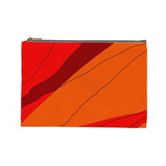 Red and orange decorative abstraction Cosmetic Bag (Large)