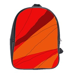 Red and orange decorative abstraction School Bags(Large)