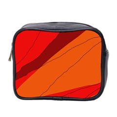 Red and orange decorative abstraction Mini Toiletries Bag 2-Side