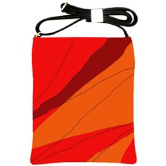 Red and orange decorative abstraction Shoulder Sling Bags