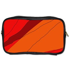 Red and orange decorative abstraction Toiletries Bags 2-Side