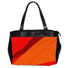 Red and orange decorative abstraction Office Handbags (2 Sides)