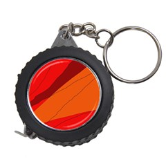 Red and orange decorative abstraction Measuring Tapes