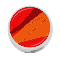 Red and orange decorative abstraction 4-Port USB Hub (Two Sides)