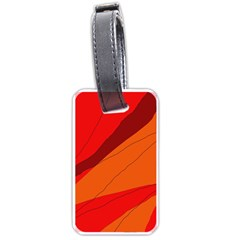 Red and orange decorative abstraction Luggage Tags (One Side)