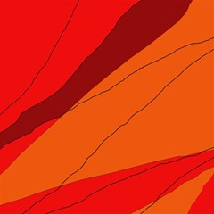 Red and orange decorative abstraction Magic Photo Cubes