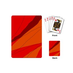Red and orange decorative abstraction Playing Cards (Mini)