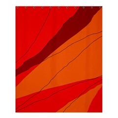 Red and orange decorative abstraction Shower Curtain 60  x 72  (Medium)