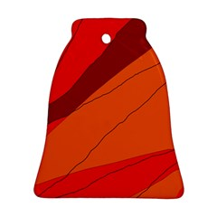 Red and orange decorative abstraction Bell Ornament (2 Sides)