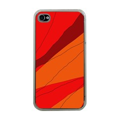 Red and orange decorative abstraction Apple iPhone 4 Case (Clear)