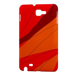 Red and orange decorative abstraction Samsung Galaxy Note 1 Hardshell Case