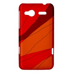 Red and orange decorative abstraction HTC Radar Hardshell Case
