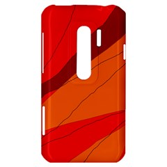Red and orange decorative abstraction HTC Evo 3D Hardshell Case