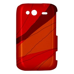 Red and orange decorative abstraction HTC Wildfire S A510e Hardshell Case