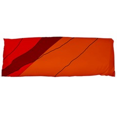 Red and orange decorative abstraction Body Pillow Case (Dakimakura)