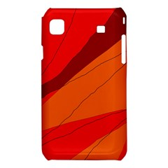 Red and orange decorative abstraction Samsung Galaxy S i9008 Hardshell Case