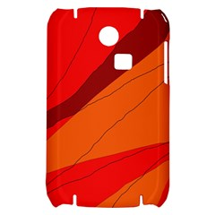 Red and orange decorative abstraction Samsung S3350 Hardshell Case