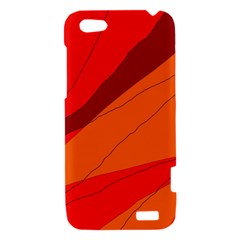 Red and orange decorative abstraction HTC One V Hardshell Case
