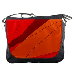 Red and orange decorative abstraction Messenger Bags