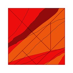 Red and orange decorative abstraction Acrylic Tangram Puzzle (6  x 6 )