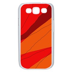 Red and orange decorative abstraction Samsung Galaxy S III Case (White)
