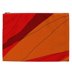 Red and orange decorative abstraction Cosmetic Bag (XXL)