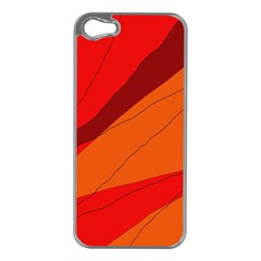 Red and orange decorative abstraction Apple iPhone 5 Case (Silver)