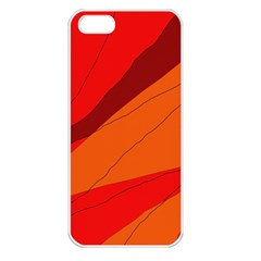 Red and orange decorative abstraction Apple iPhone 5 Seamless Case (White)