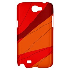Red and orange decorative abstraction Samsung Galaxy Note 2 Hardshell Case