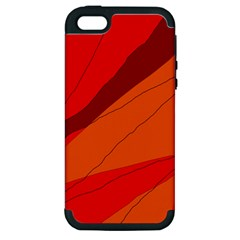 Red and orange decorative abstraction Apple iPhone 5 Hardshell Case (PC+Silicone)